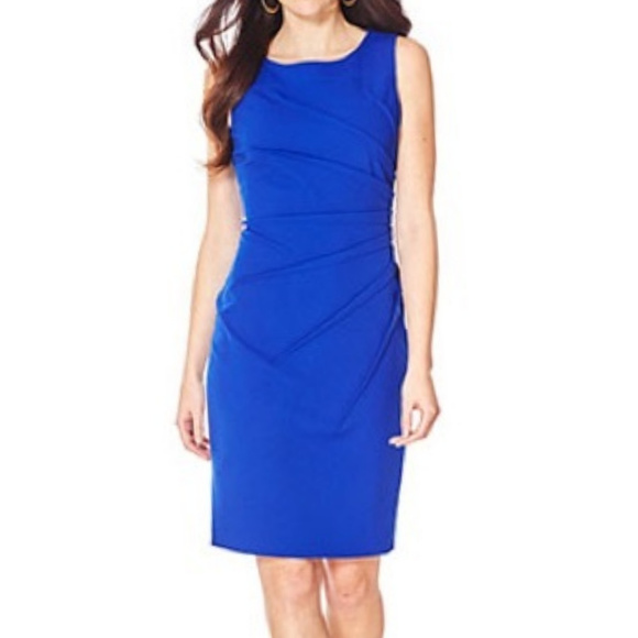 ef47d77a Calvin Klein Dresses & Skirts - ⬇ $44 Calvin Klein Blue Sunburst Sheath  Dress